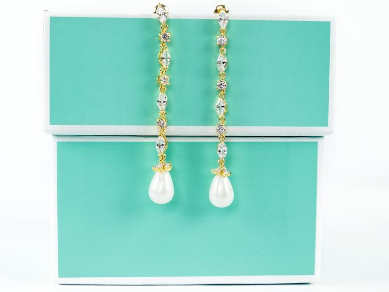 Wedding Pearl Jewelry Wedding Earrings Pearl Bridal Earrings Pearl Dangle Earrings Rose Gold Bridal Earring Bridesmaid Earrings
