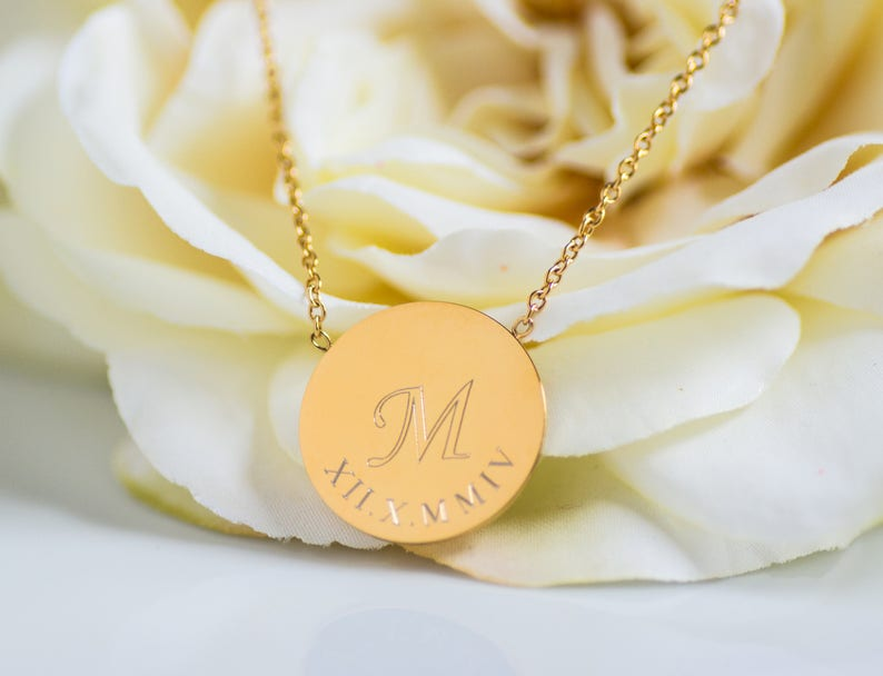 Personalized Christmas Gift Gift For Her Holiday Gifts Name Necklaces Monogram Necklaces Monogram Jewelry Initial Necklace