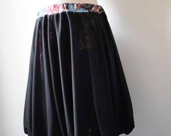 baloon back chiffon skirt and floral lining