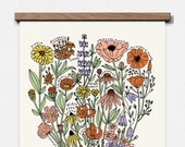 Wildflowers of North America 11 x 14 Screen Print