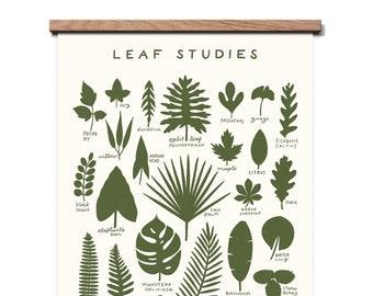 Leaf Studies 16 x 20 Screen Print