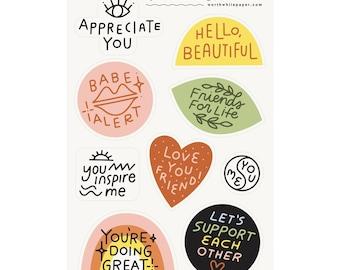Friendship Sticker Sheet Set- Gender Neutral
