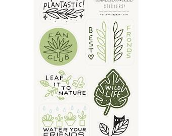 Plant Sticker Sheet Set
