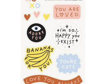 You are Loved Sticker Sheet Set