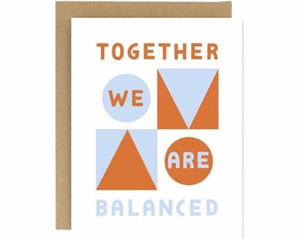 Together we are Balanced Card