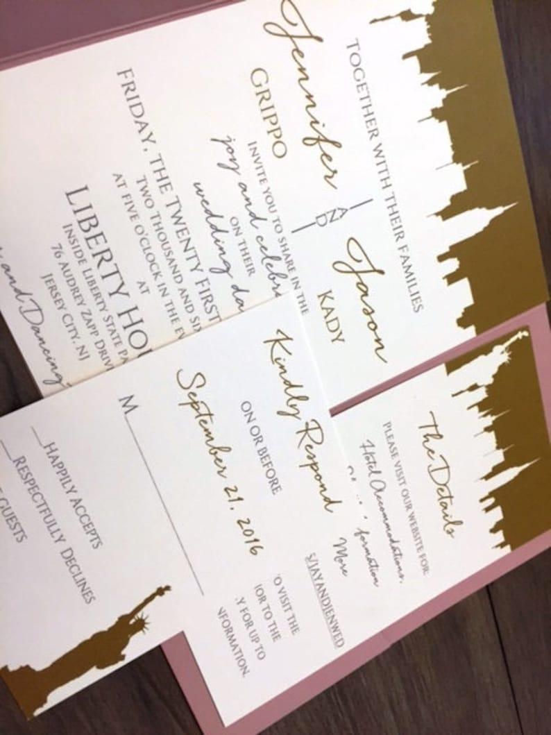 New York Wedding Invitations New York City Themed Wedding Etsy