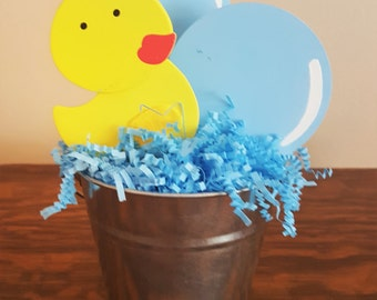 Ducky Centerpiece, Rubber Ducky Centerpiece, Baby Shower Centerpiece, Birthday Party Centerpiece, Ducky Baby Shower, Ducky Birthday Party