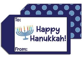 Personalized Chanukkah Family Stickers Personalized Happy Hanukkah Gift Tags Hanukkah Present Stickers Happy Hanukkah Gift Sticker