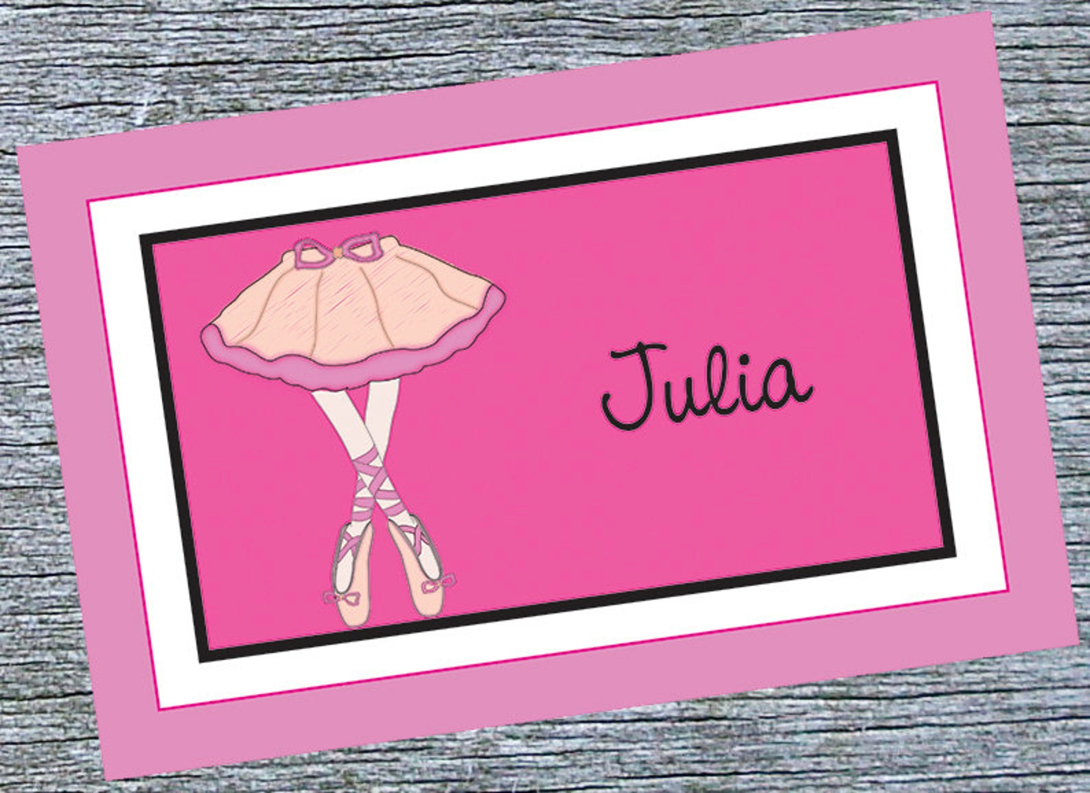 ballerina girl placemat - pink ballet shoes custom girls placemat - custom girls dance placemat - ballet recital gift for ballet