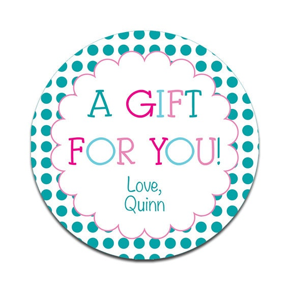 A Gift For You Personalized Sticker Girls Birthday