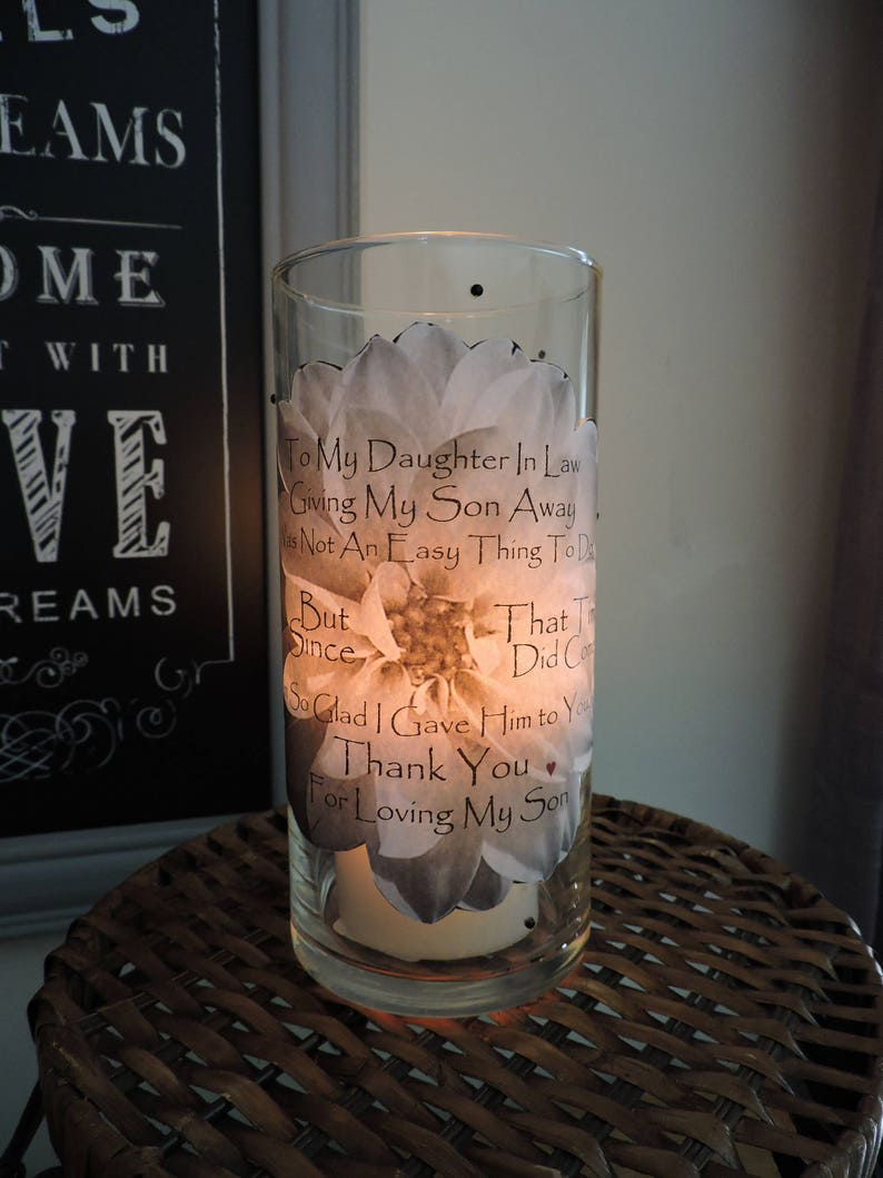 Daughter In Law Candle Holder Gift