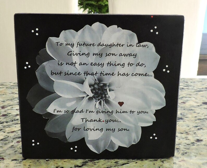 Future Daughter In Law Gift Welcome To The Family Gift Etsy