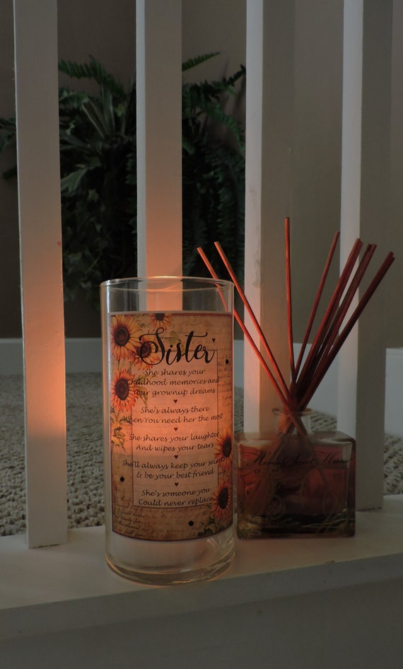 sisters candle holder sister gift sister birthday gift etsy
