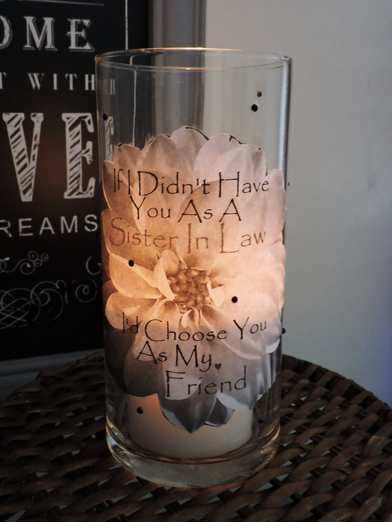 Sister In Law Candle Holder Gift