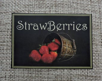 Strawberry Magnet | Strawberry Kitchen Decor | Refrigerator Magnet | Strawberries Magnet | Fridge Magnets | Strawberry Collector Gift