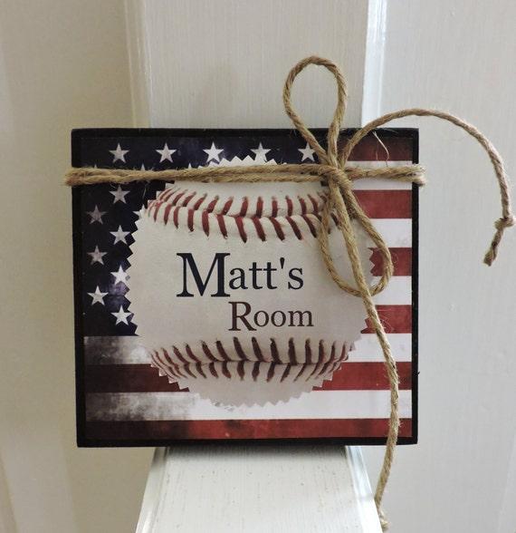 Kids Baseball Gift Boys Room Baseball Sign Personalized Baseball Sign Baseball Bedroom Decor Boys Baseball Theme Bedroom Decor
