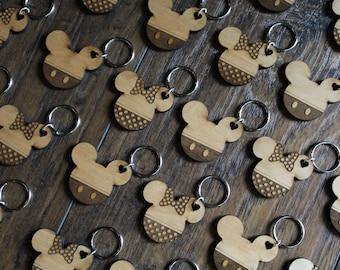 Mickey & Minnie Keychains