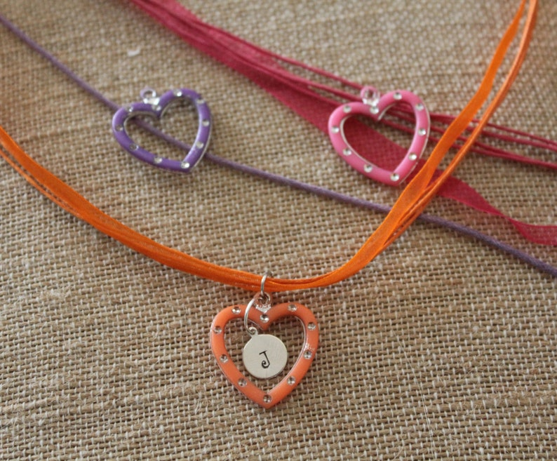 Gift Sweet Monogram Heart Necklace OR Charm