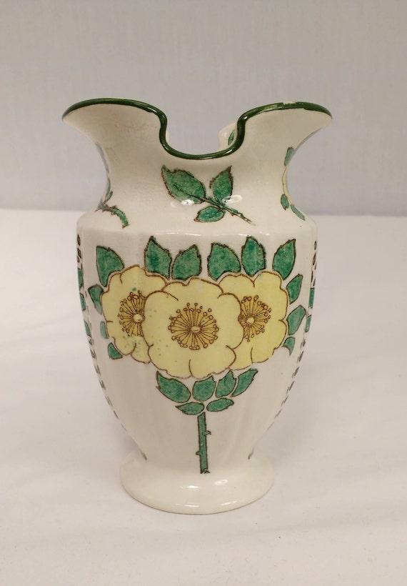 Royal Doulton Art Nouveau Three Poppies Vase Pattern D3062 Etsy