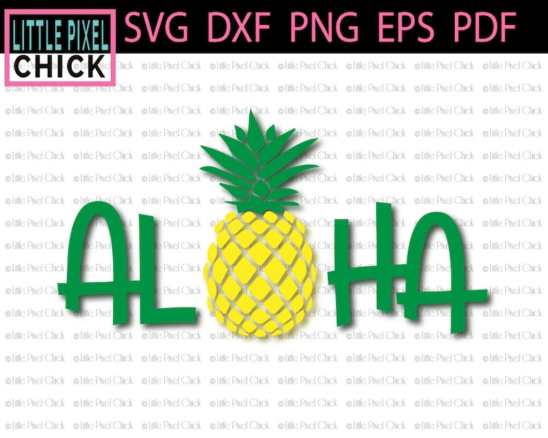 Pineapple SVG, Aloha SVG, Pineapple Cricut SVG, Pineapple Cut File, svg  Cricut Download, Silhouette dxf File, Silhouette Cameo 3
