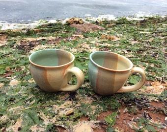 Cappuccino Latte Mug in Seafoam Green
