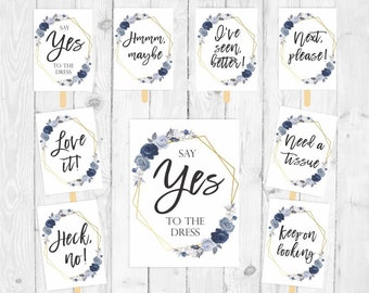 Say yes to the dress sign printable sign I said yes to the dress set wedding dress shopping bridal boutique sign bridal dress shopping 330