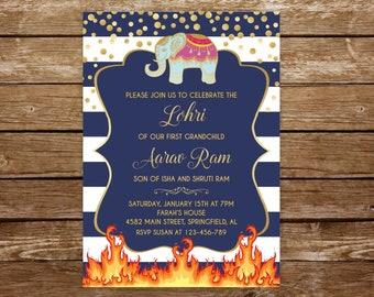 Lohri Invitation Etsy