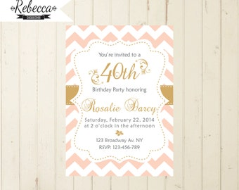 coral invitations etsy