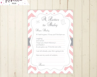 Letter to baby game mad lib baby shower game baby guesses game etsy letter to baby game mad lib baby shower game baby guesses game pink grey printable game guessing game make your best guess madlib game 105 spiritdancerdesigns Image collections