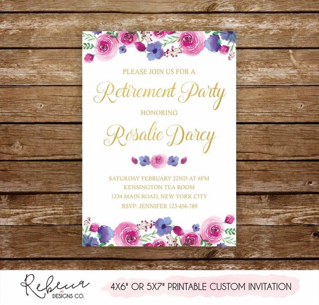 Woman Retirement Party Invitation Retirement Invitation Farewell
