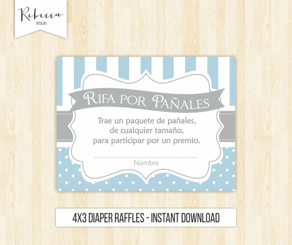 Diaper Raffles Spanish Rifas Para Paales Baby Shower In Etsy