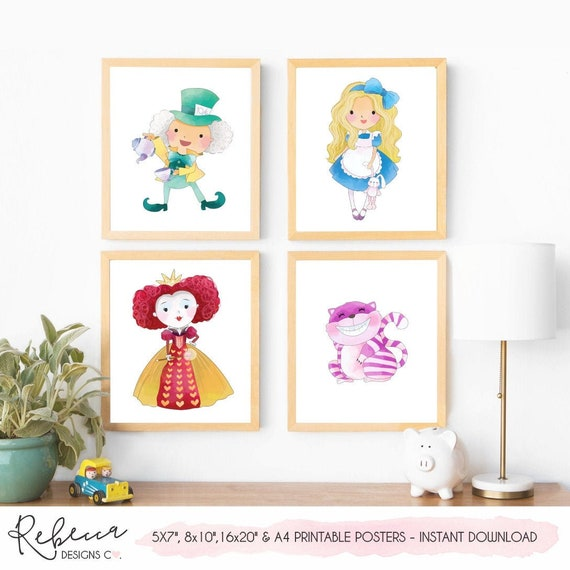 picture regarding Printable Alice in Wonderland named Alice in just wonderland posters printable symptoms Alice nursery