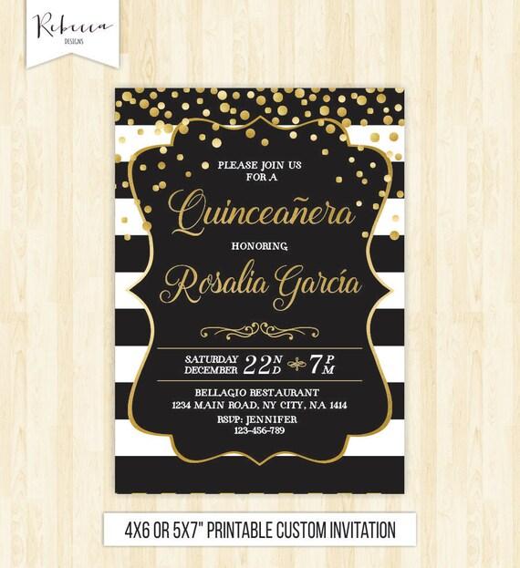 Quinceanera Birthday Invitation 15th Invite Mis