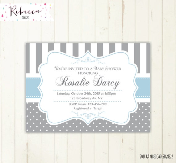 Boy baby shower invitation blue and grey invite baby shower il570xn filmwisefo