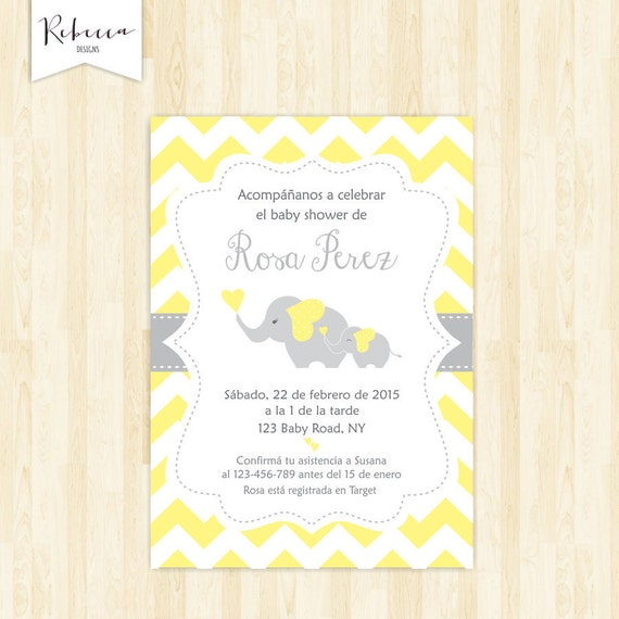 Baby Shower In Spanish Espanol Girl Baby Shower Espanol Invite Etsy