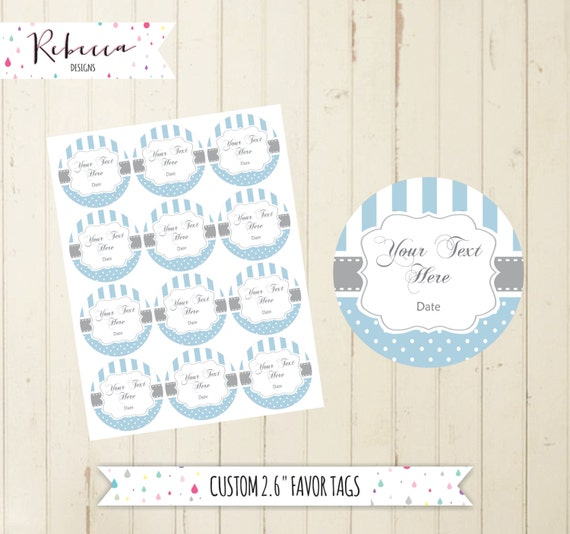 photo regarding Printable Baby Gift Tags named youngster shower blue want tags printable desire tags thank your self