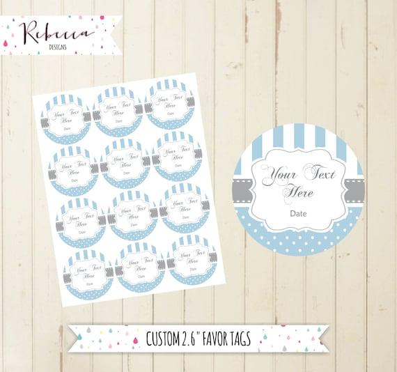photograph regarding Printable Baby Gift Tags named child shower blue prefer tags printable like tags thank yourself