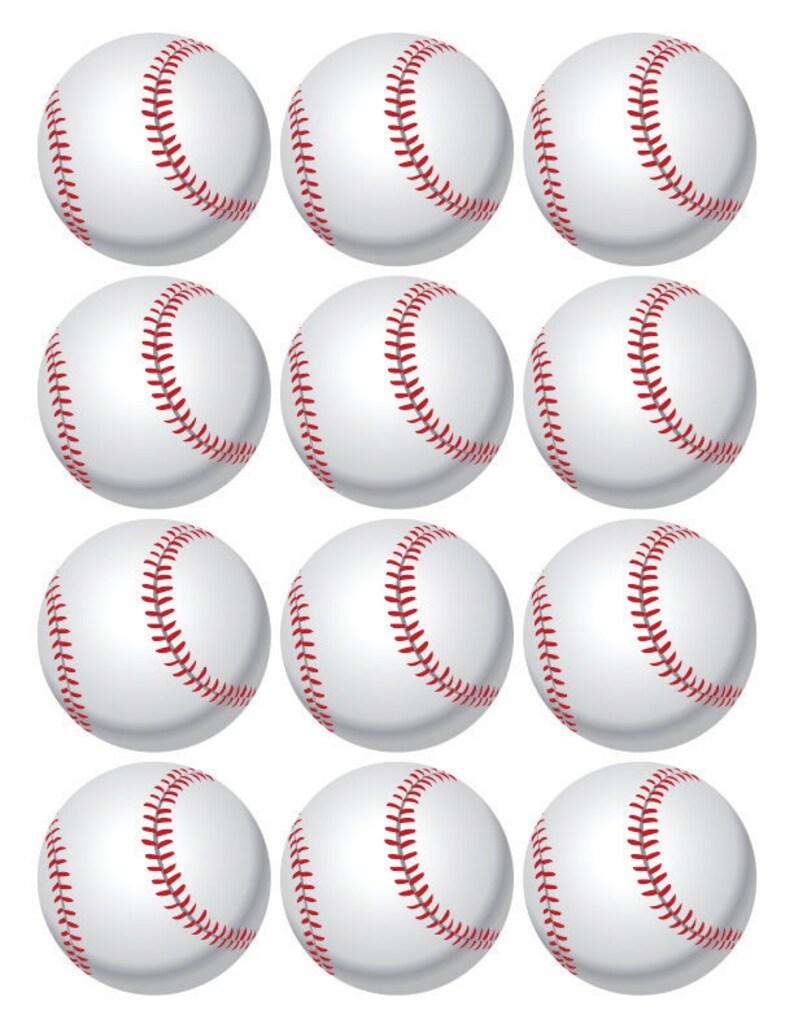 Baseball cupcake toppers baseball toppers printable ...
