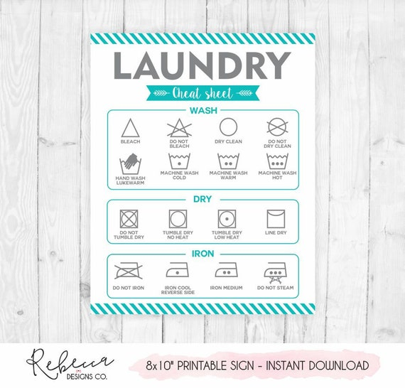 photograph about Laundry Symbols Printable identified as Laundry symbols printable indication laundry cheat sheet prompt