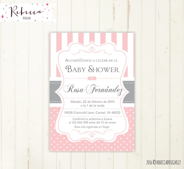 Spanish baby shower invitation girl baby shower in spanish etsy image 0 filmwisefo