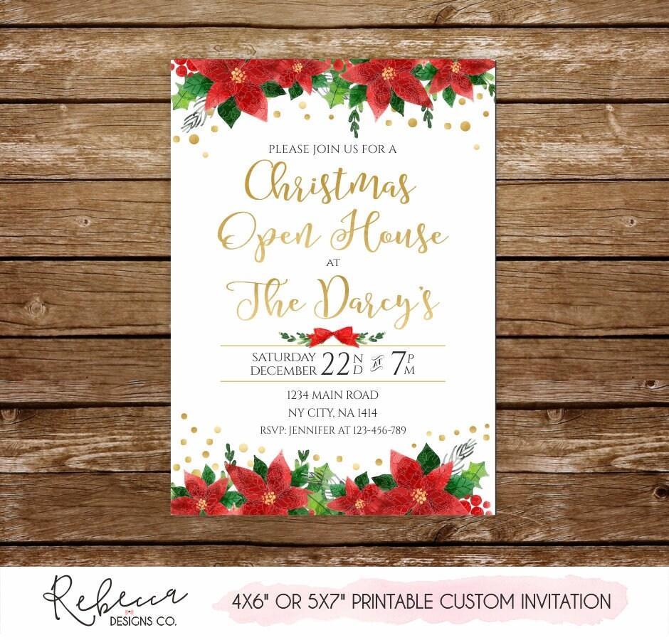 Christmas open house invitation holiday open house invitation | Etsy