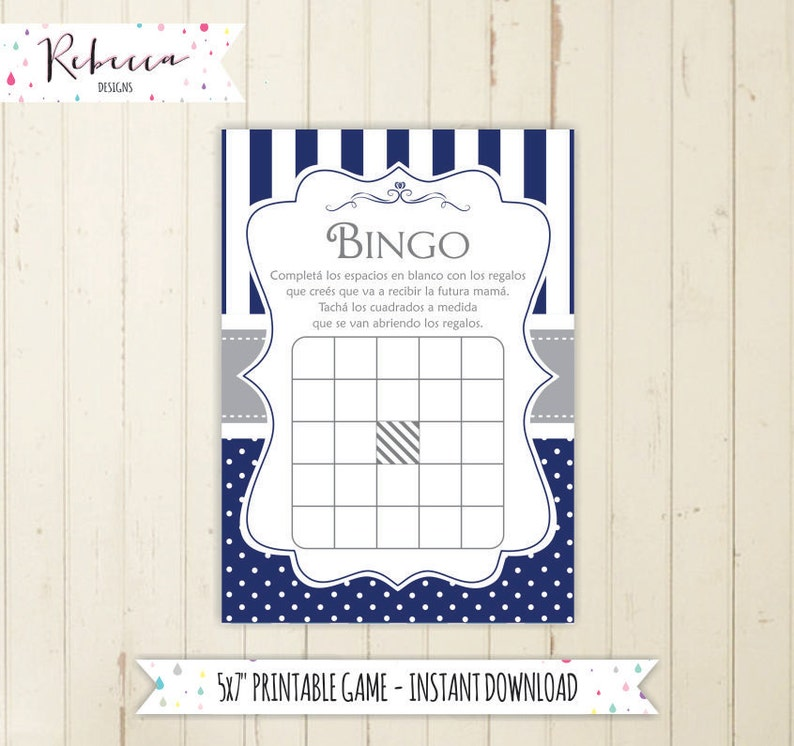 Bingo In Spanish Baby Shower Loteria In Spanish Espanol Juegos Etsy
