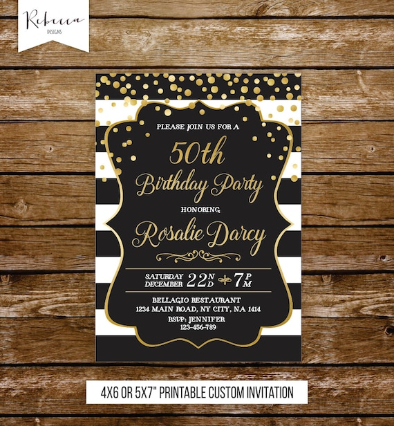 70th Birthday Invitation Women Elegant Invite 21st