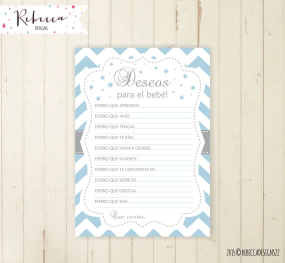 Deseos Para El Bebe Baby Shower Wishes For Baby In Spanish Espanol