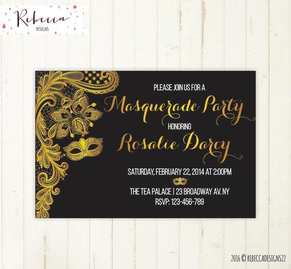 masquerade invitation mardi gras invitation masquerade party invite