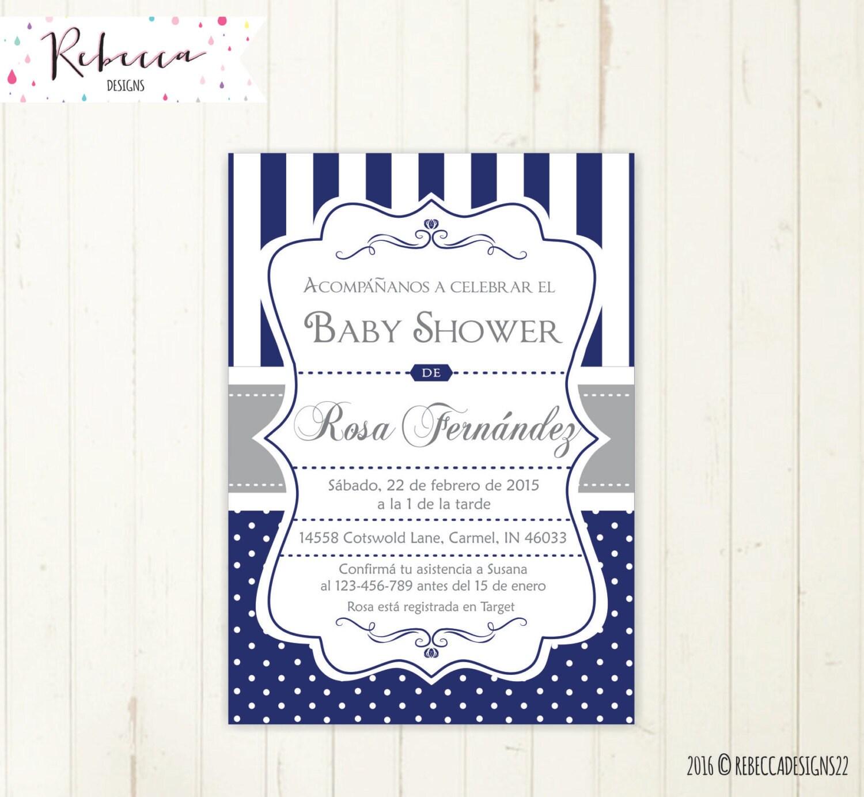 baby shower invitation in spanish boy baby shower spanish | etsy