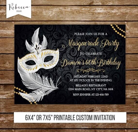masquerade invitation masquerade ball invitation masquerade etsy