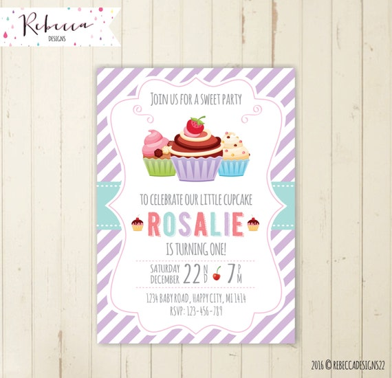 cupcake invitation cupcake birthday invitation cupcake party