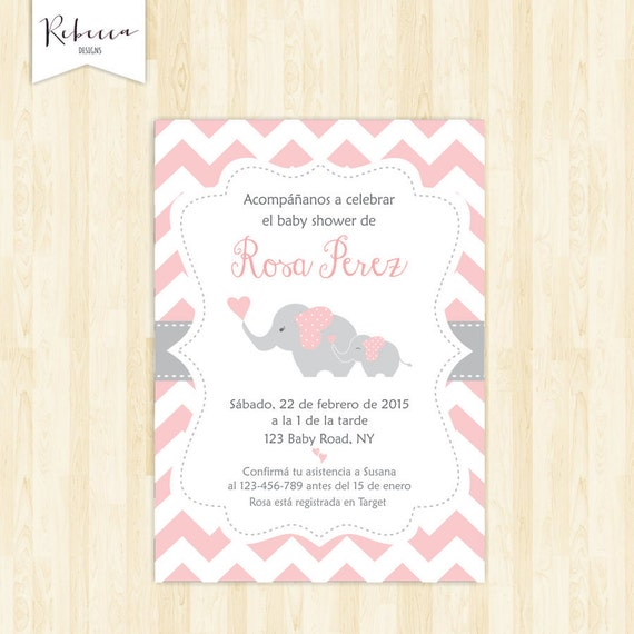 Invitacion Baby Shower Espanol Girl Baby Shower In Spanish Etsy