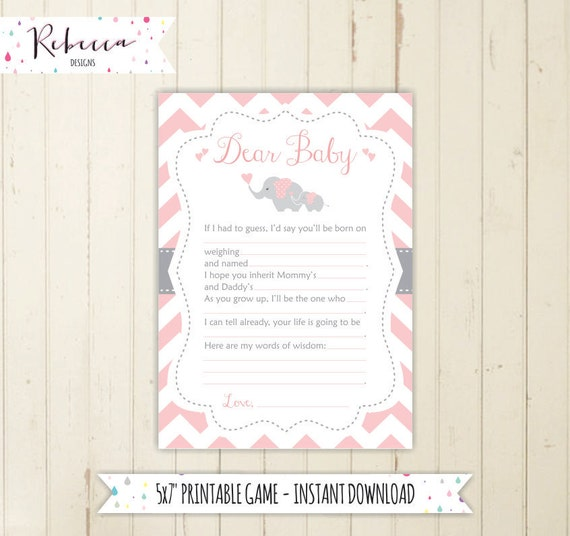 Letter to baby game mad lib baby shower game baby guesses game etsy image 0 spiritdancerdesigns Image collections